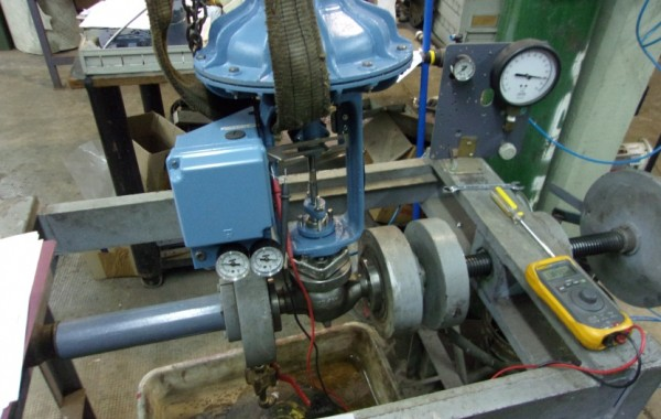 Calibración de válvulas de control