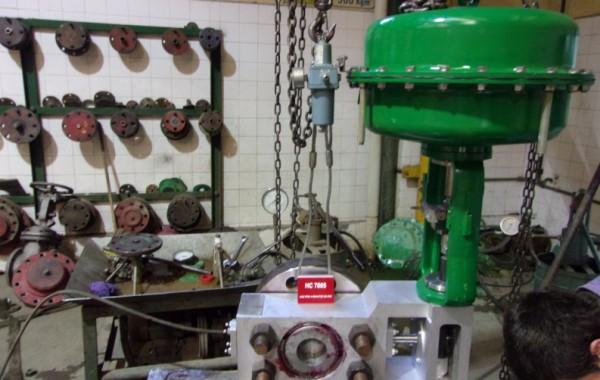 Fiscalización de reparación de válvulas de control